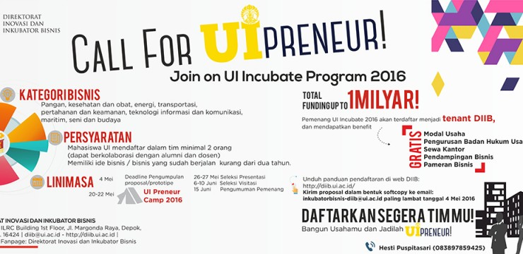 UI Incubate Program 2016
