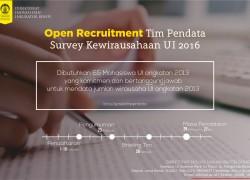 Open Recruitment Tim Pendata 2016