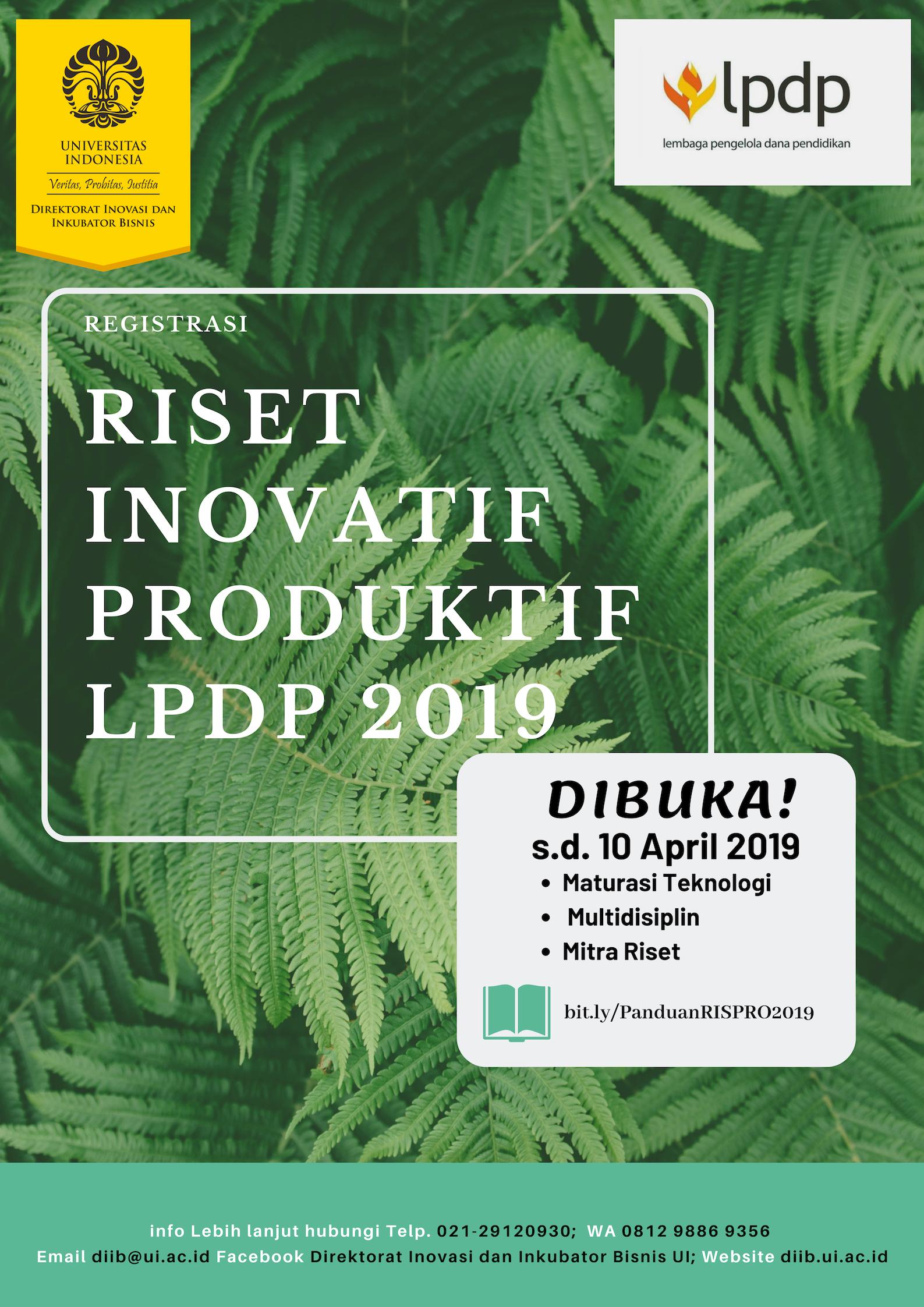 Poster RISPRO LPDP 2019